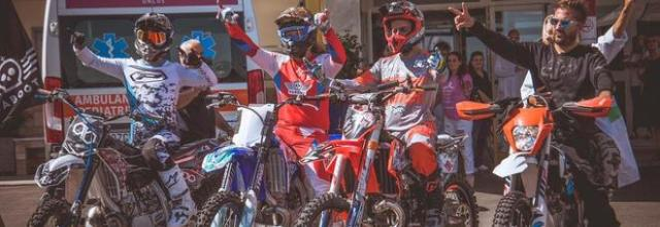 Napoli, mototerapia al Pausilipon con Oddera campione mondiale di Freestyle Motocross