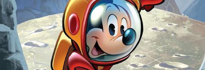 Anche Topolino celebra il 50esimo anniversario della luna con l'AstroTopo in missione spaziale