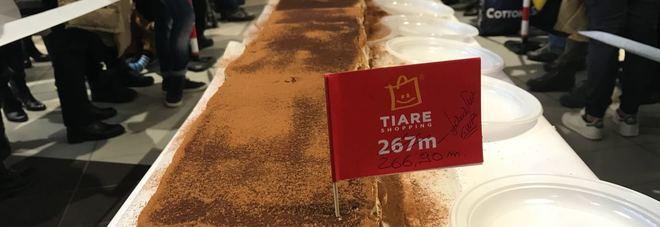 Tiramisù, si tenta il record mondiale: superare i 200 metri. All'opera 30 pasticcieri con 3 mila uova e 48 mila savoiardi