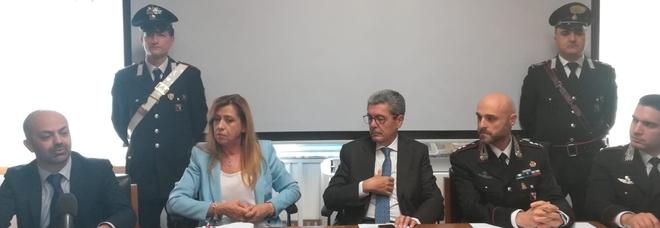 Un momento della conferenza stampa tenutasi a Cosenza