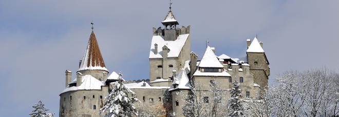 Un disegno del castello di Bran