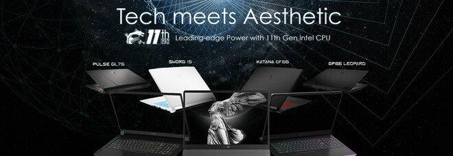 MSI svela la nuova lineup di laptop per gamers e creators