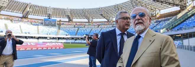 Napoli, ADL e De Luca allo stadio: consegnati i nuovi spogliatoi azzurri