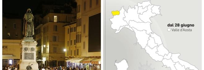 Italia zona bianca (quasi tutta) e senza coprifuoco da lunedì: su stop obbligo mascherine all'aperto si decide in settimana