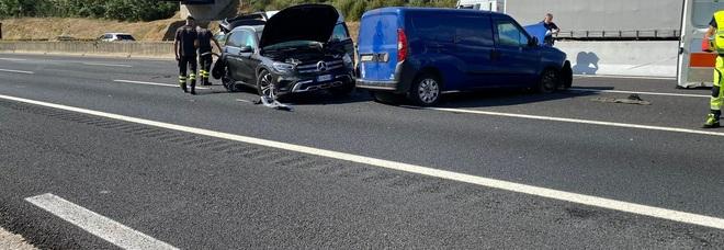 L'incidente sull'autostrada tra San Vittore e Caianello
