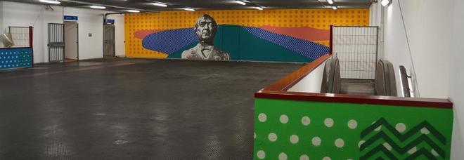 Ponticelli, altra stazione riqualificata con la street art: pendolari incuriositi