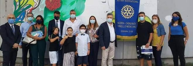 Casalnuovo, realizzato il primo murales antismog con i fondi del Rotary