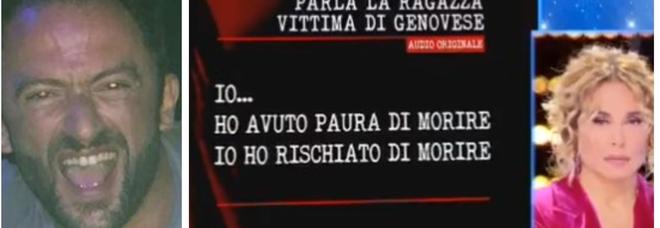 Genovese, l'audio della vittima dalla D'Urso: «Ho avuto paura di morire, ho rischiato di morire»
