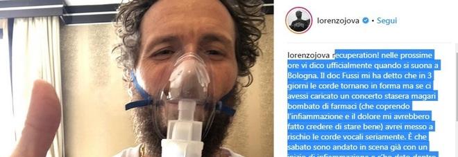 Jovanotti, concerti sospesi: sospetto edema alle corde vocali