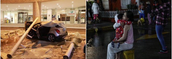 Messico, terremoto di magnitudo 7 alle porte di Acapulco: uomo travolto dalla caduta di un traliccio, danni ai palazzi