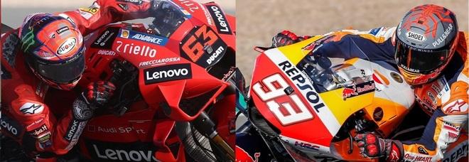 Moto Gp, Bagnaia domina le seconde libere davanti a Quartararo e Mir. Marquez 6°