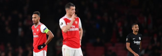 La delusione dei giocatori dell'Arsenal