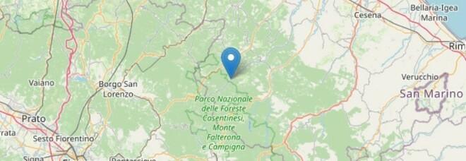Terremoto a Mugello, scossa di magnitudo 2.8