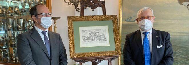 Cultura, premio «Palazzo San Carlo» al Console generale di Francia a Napoli, Burin des Roziers