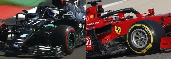 Formula 1, Bottas e Hamilton dominano le libere: 3° Gasly e 4° Sainz. Leclerc contro le barriere