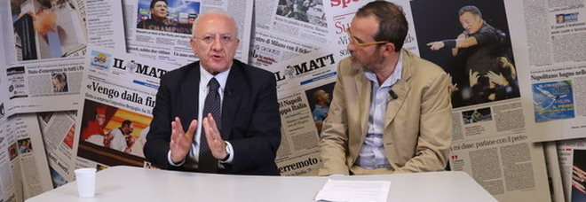 De Luca, intervista al Mattino Tv: «Commissario sanità, un'idiozia»