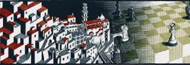 L 39 atrani di escher nella mostra a roma finisce nella for Escher metamorfosi