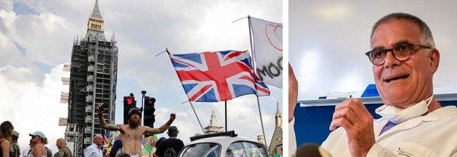 Variante Delta, Zangrillo: «Nonostante le folli riaperture, in Gran Bretagna da 5 giorni crollano i contagi»