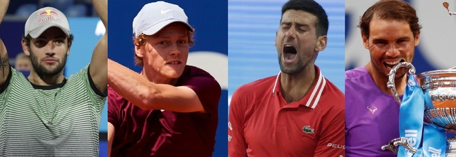 Tennis, la scalata di Berrettini e Sinner nel ranking Atp: Nadal scavalca Medvedev e vede Djokovic