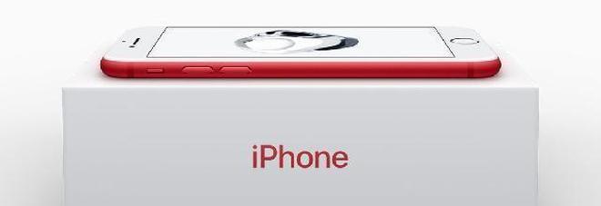 Apple, il nuovo iPhone 7 in rosso