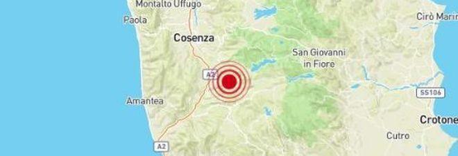 Terremoto a Cosenza alle 18.32.