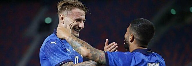 Italia, gol napoletani per l'Europa: Insigne e Immobile bocche di fuoco