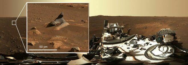 Marte, la Nasa si interroga sulle strane rocce delle prime foto panoramiche di Perseverance