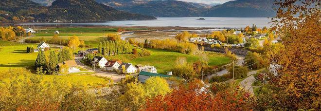 Una contea del Canada occidentale nell'aree del Quebec