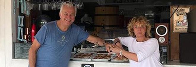 Marco Predolin e la moglie Laura (Instagram)