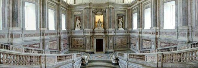 Reggia di Caserta, concluso il restauro dello Scalone Reale dopo un anno