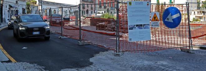 Napoli, finisce il tempi record il senso unico alternato al Corso Vittorio Emanuele