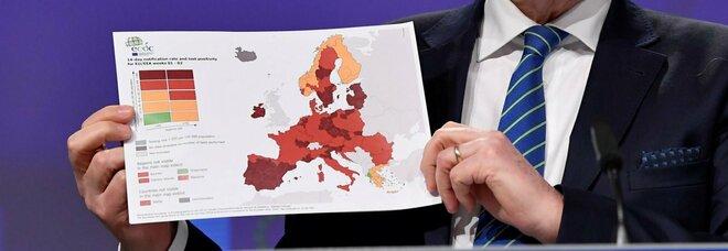 Covid: Veneto, Emilia Romagna, Friuli e Bolzano zone rosso scuro in Italia: nuova mappa europea