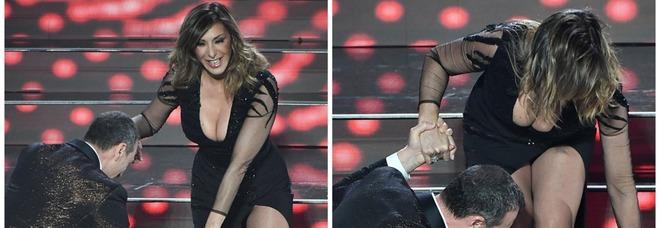 Sanremo 2020, Sabrina Salerno e l'imprevisto sulla scala: il retroscena a Vieni da Me