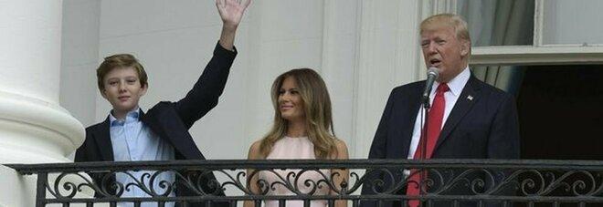 Trump, il figlio 14enne Barron è positivo al Covid. Melania: «È asintomatico»