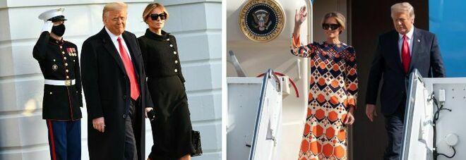 Trump, la trasformazione di Melania: dal nero della Casa Bianca all'arancione della Florida. E ritrova il sorriso