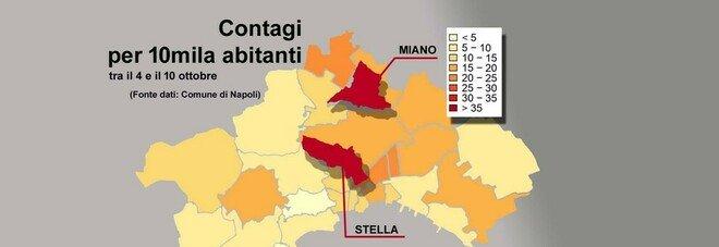 Covid a Napoli, la mappa della paura: i rioni Stella e Miano fuori controllo