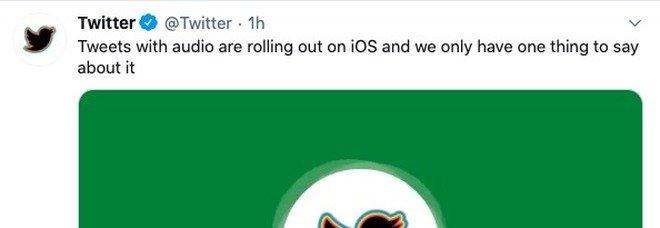 Twitter introduce i tweet audio: «Fino a 140 secondi». Ma il test è solo per iOS