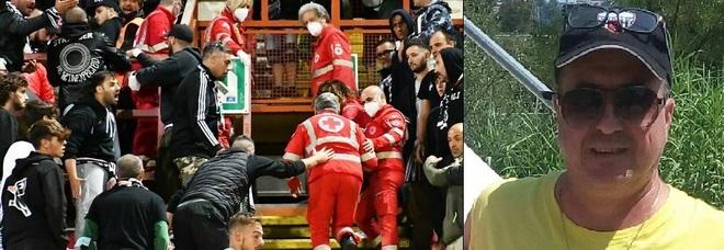 Il soccorso a Luigi Mascitti, il tifoso dell'Ascoli stroncato da un malore allo stadio di Perugia