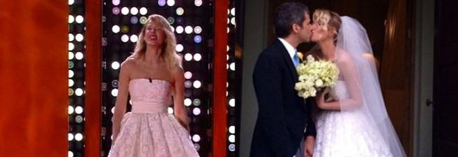 Isola, Alessia Marcuzzi abito da sposa per la finale