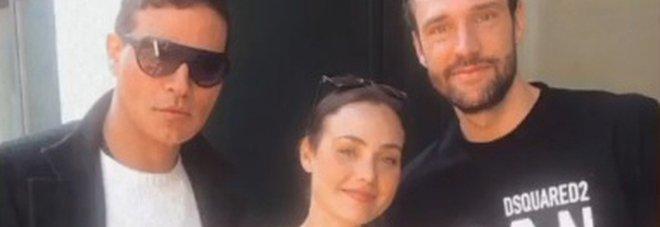 Gabriel Garko, Rosalinda Cannavò e Andrea Zenga (Instagram)