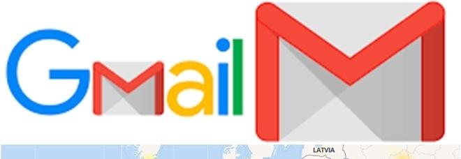 La mappa europea degli errori di Gmail