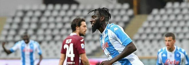 Napoli, Bakayoko festeggia il gol e i compagni lo celebrano in rete