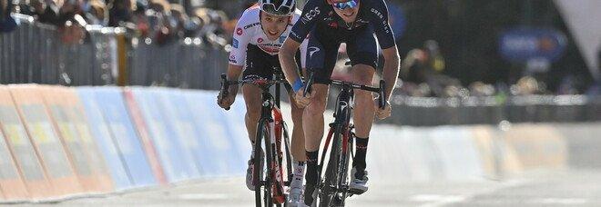 Lo sprint di Geoghegan Hart a Sestriere