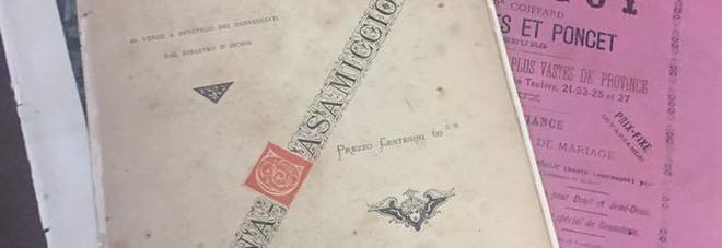 alcuni giornali d'epoca conservati alla Emeroteca Valentino