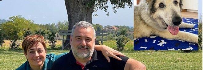Benedetta Rossi, il marito Marco si commuove al ricordo del cane scomparso: «Il buongiorno senza Nuvola è più triste»