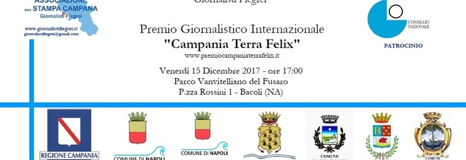 """Premio Giornalistico Internazionale """"Campania Terra Felix"""""""