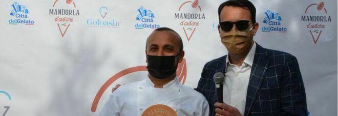 """Gastronomia, il gelato cilentano trionfa a """"Mandorle d'Autore 2021"""" con Antonio Baratta"""
