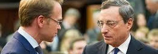 Jens Weidmann (a sinistra) e Mario Draghi