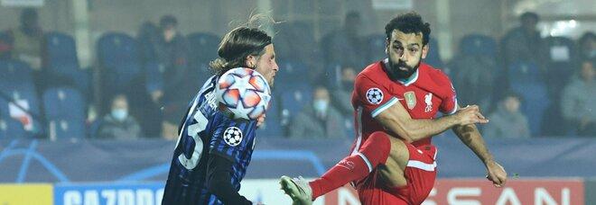 Troppo Liverpool per l'Atalanta: 0-5 con tris di Jota, Salah e Manè