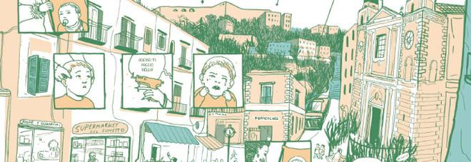 Cristina Portolano, il quartiere di Montesanto in una tavola dal graphic novel